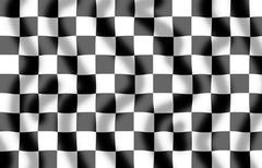 Chequered flag slight ripple Stock Illustration