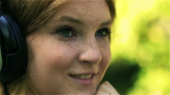 Lovely girl flirting and sending kiss to the camera, steadycam shot Stock Footage