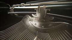 Vintage Typewriter.Keyboard antique retro black write Stock Footage