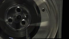 Tape recorder-reel to reel-6 CU take up reel Stock Footage