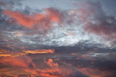 Sunset sky over the Atlantic Ocean Stock Photos