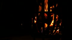 Slow motion shot of campfire on a sumer evening Stock Footage
