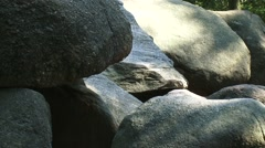 Large T shaped Prehistoric Dolmen, BORGER, THE NETHERLANDS - full screen stones Stock Footage