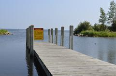 Wooden Boat Launch Docks Stock Photos