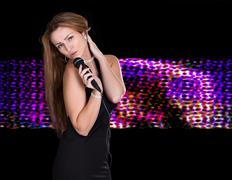 Stock Photo of young female singer