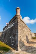 saint augustine fort - stock photo