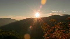 Dolomites sunset Stock Footage