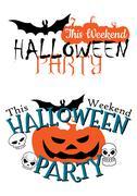 Amazing happy halloween party invitation Stock Illustration