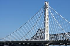 Eastern Span Replacement of Oakland Bay Bridge, San Francisco, Treasure Island, - stock photo