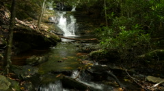 Simulated timelapse of small waterfall on mountain stream. - stock footage