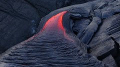 Stock Video Footage of Hawaii flowing lava