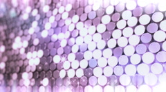 Fragment of honeycomb with full cells in flare light Stock Footage