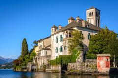 san giulio abbey - stock photo