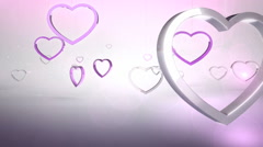 Rotating pink heart shaped ring Stock Footage