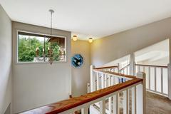 Empy house interior with upstairs deck. Stock Photos