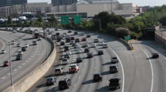 Atlanta Rush Hour Traffic Stock Footage