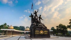 Hyperlapse on Malaysia National Monument also known as Tugu Negara in Kuala Lump Stock Footage