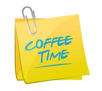 coffee time illustration design - stock illustration