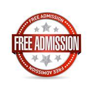 Free admission seal illustration design Stock Illustration