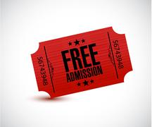 free admission ticket illustration design - stock illustration