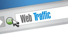 web traffic browser sign illustration design - stock illustration