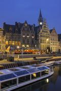 Evening in ghent Stock Photos
