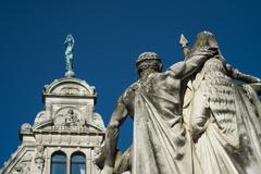 Statue of jan frans willems in gent Stock Photos
