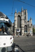 Stock Photo of korenmarkt the old market square of ghent