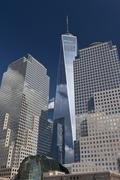 Stock Photo of Close-up of World Trade Center with One World Trade Centre (Freedom Tower), New