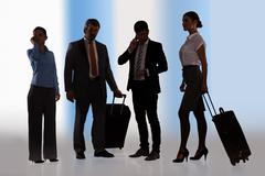 businesspeople ready for journey - stock photo
