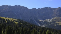 Dolomites view, Italian Alps Stock Footage