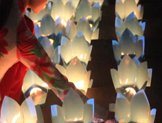 The candles in traditional festival,Asia Stock Footage