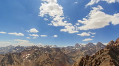 High mountains. Zoom. Time Lapse. Pamir, Tajikistan Stock Footage