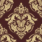 Floral Seamless Vector Pattern. Orient Abstract Background Stock Illustration