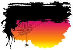 Spooky halloween background with spider Stock Illustration