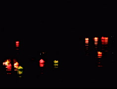 The candles in traditional festival, Asia Stock Footage