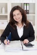 photo of accountant woman - stock photo