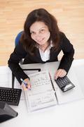 photo of accountant woman - stock photo