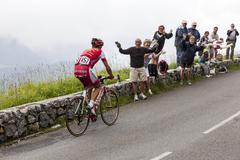 the cyclist David Moncutie - stock photo