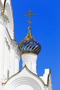 cross with a dome in the orthodox church. - stock photo