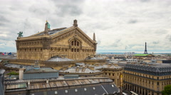 Palais Garnier, Paris France, 4k UHD timelapse - stock footage