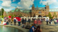 Square near Rijksmuseum in Amsterdam, 4k UHD timelapse Footage