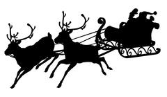 Santa sleigh silhouette Piirros