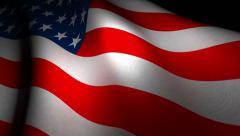 US flag waving Stock Footage
