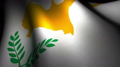 Cyprus Flag  Waving Stock Footage