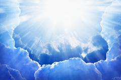 light from heaven - stock photo