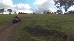 Farmer on Quad Bike Stock Footage