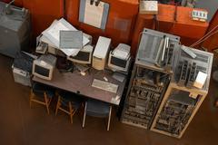 Vintage photo of obsolete technology Stock Photos