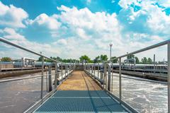 Water cleaning facility Stock Photos