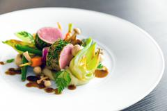 Delicious gourmet food Stock Photos